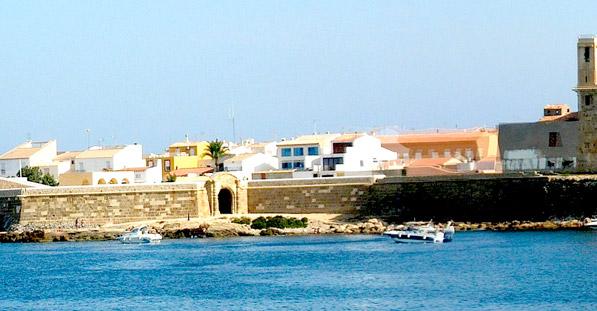 Vista Puerto Viejo Isla de Tabarca