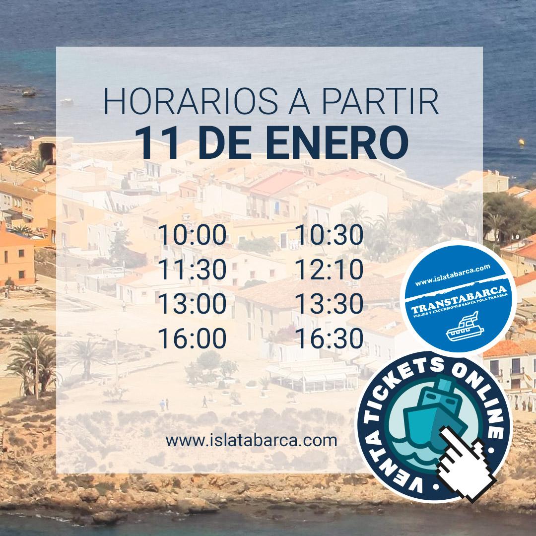 Horarios Transtabarca Viajes y Excursiones a la Isla de Tabarca desde Santa Pola