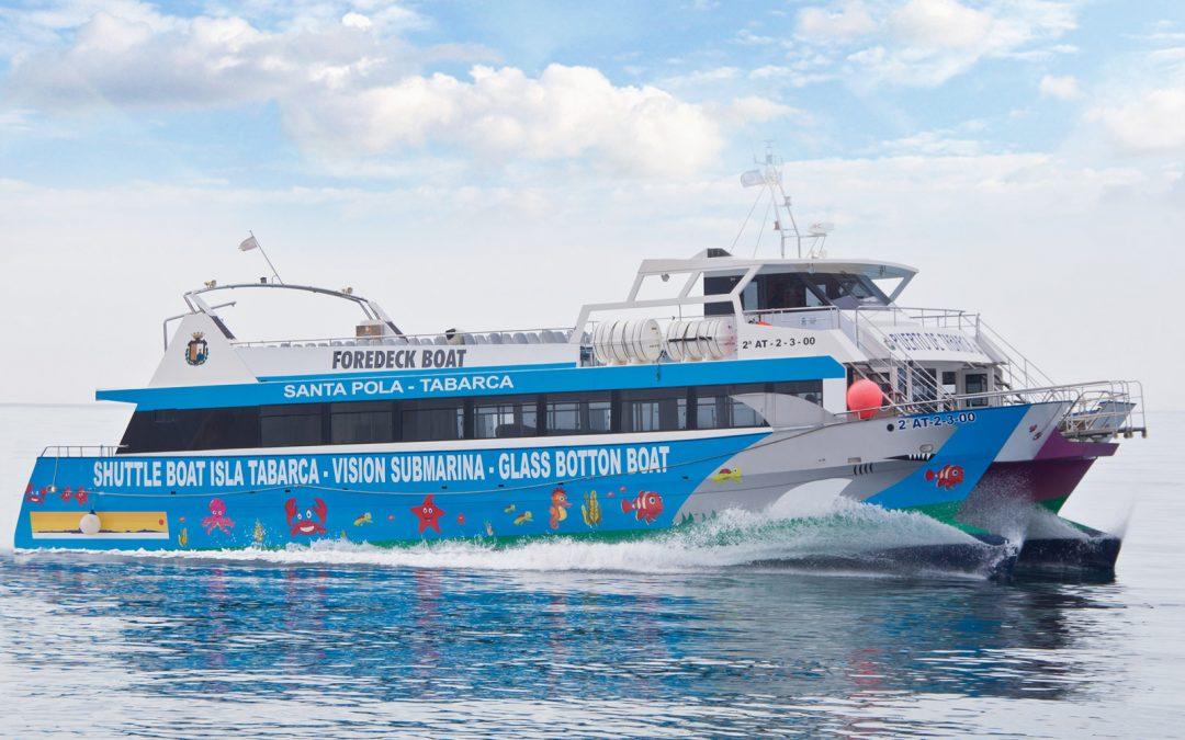 Catamarán Puerto de Tabarca Transtabarca Viajes y Excursiones a la Isla de Tabarca desde Santa Pola